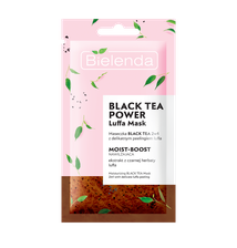BLACK TEA POWER Luffa Mask Maseczka Black Tea 2w1 z peelingiem luffa nawilżająca 8g