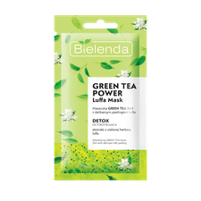 GREEN TEA POWER Luffa Mask Maseczka Green Tea 2w1 z peelingiem luffa detoksykująca 8g